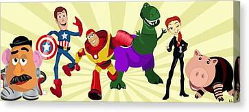 Toy Story Avengers Canvas Print by Lisa Leeman