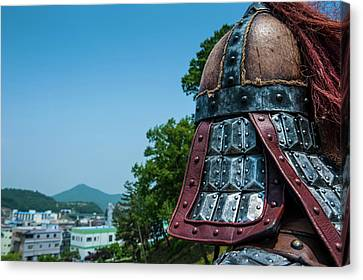 Michael Canvas Print - Traditional Helmet Of A Guard by Michael Runkel