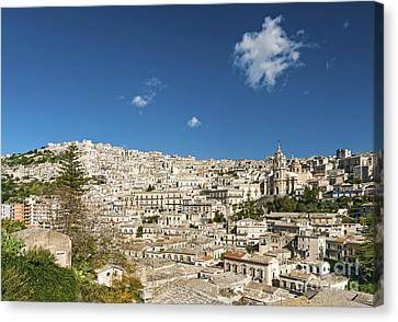 Traditional Houses Of Modica In Sicily Italy Canvas Print