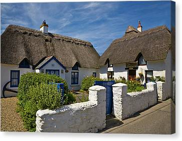 Traditional Thatched Cottage, Kilmore Canvas Print by Panoramic Images