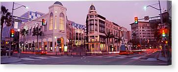 Traffic On The Road, Rodeo Drive Canvas Print by Panoramic Images