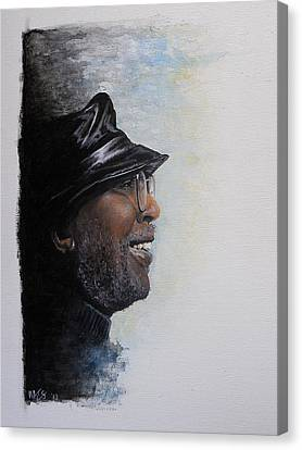 Drummer Canvas Print - Train A Coming - Curtis Mayfield by William Walts