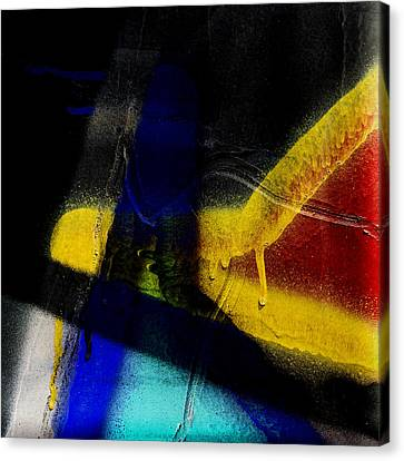 Train Art Abstract Canvas Print