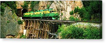 Skagway Canvas Print - Train On A Bridge, White Pass And Yukon by Panoramic Images