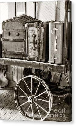Train Station Luggage Cart Canvas Print
