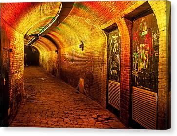 Trajectum Lumen Project. Ganzenmarkt Tunnel 6. Netherlands Canvas Print