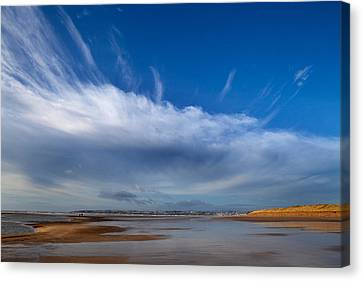 Tramore Strand And Town From The Dunes Canvas Print