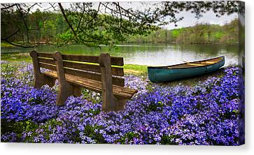 Tranquility Canvas Print by Debra and Dave Vanderlaan