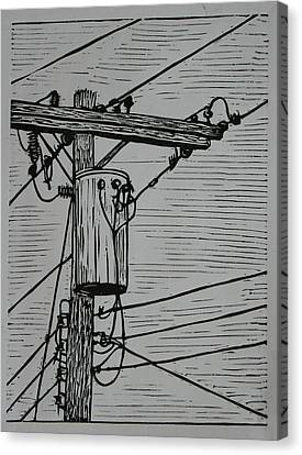Transformer Canvas Print by William Cauthern
