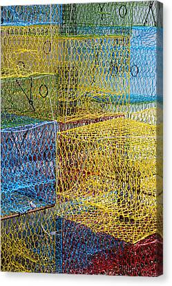 Crab Pots Canvas Print by John Illingworth