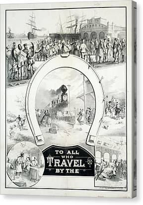 Travel Poster, C1882 Canvas Print by Granger