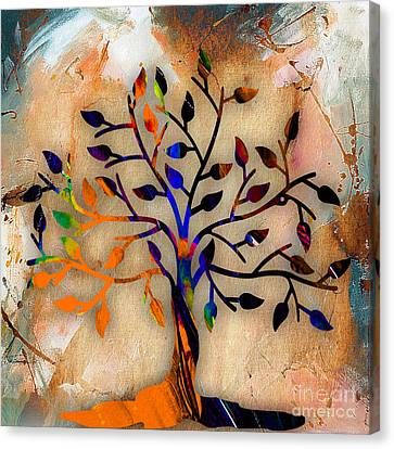 Tree Of Life Painting Canvas Print by Marvin Blaine