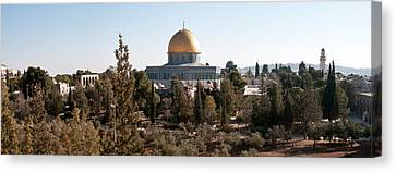 Trees With Mosque In The Background Canvas Print