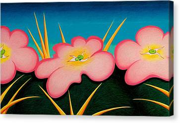 Tres Flores Canvas Print by Richard Dennis