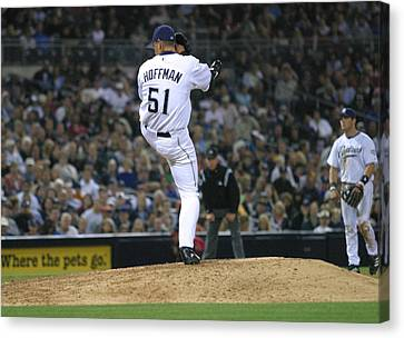 Canvas Print featuring the photograph Trevor Hoffman by Don Olea