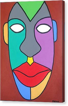 Tribal Pop Canvas Print by Eddie Pagan