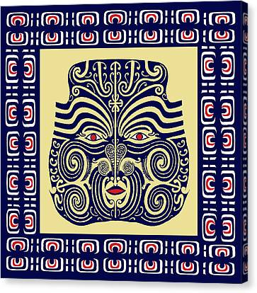 Marquesas Tribal Spirits Canvas Print by Vagabond Folk Art - Virginia Vivier