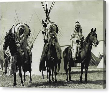 Trible Leaders  Canvas Print by Retro Images Archive