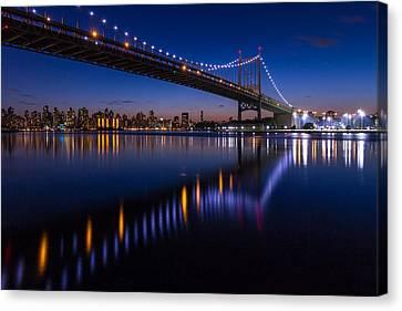 Triboro Bridge Ny At Twilight Canvas Print