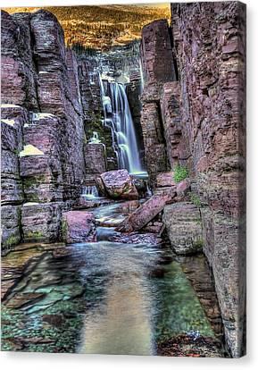 Tripple Falls Canvas Print by Walt Landi