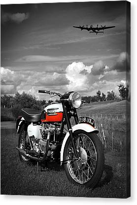 Triumph Bonneville T120 Canvas Print by Mark Rogan