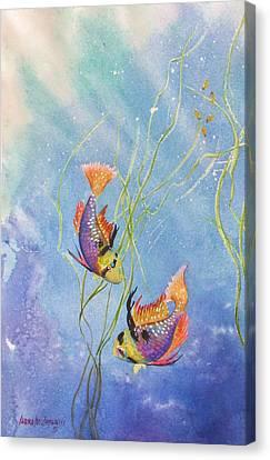 Fish Underwater Canvas Print - Tropical Fantasy Iv by Laura Lee Zanghetti