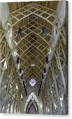 Trussed Arches Of Uf Chapel Canvas Print by Lynn Palmer
