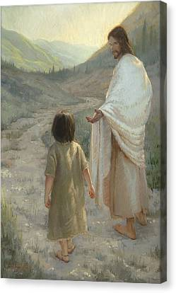 Reaching Canvas Print - Trust In The Lord by James L Johnson