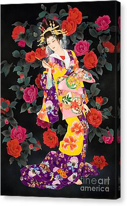 Tsubaki Canvas Print by Haruyo Morita
