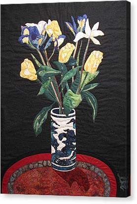 Tulips And Irises Canvas Print by Lynda K Boardman