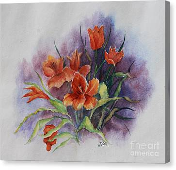 Tulips Canvas Print by Janet Felts