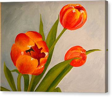 Tulips Canvas Print by Valerie Lynch