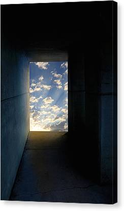 Tunnel With Light Canvas Print by Melinda Fawver