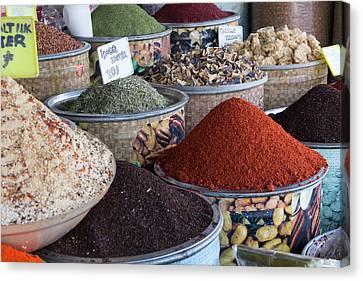 Turkey, Gaziantep, Medina, Spice Canvas Print by Emily Wilson
