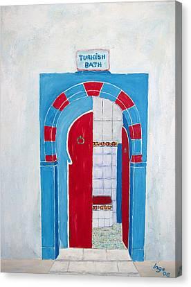 Turkish Bath Canvas Print by Inge Lewis