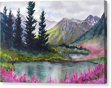 Turnagain Pass Fireweed Canvas Print by Karen Mattson