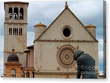 Canvas Print featuring the photograph Turning Point --st. Francis Of Assisi by Theresa Ramos-DuVon
