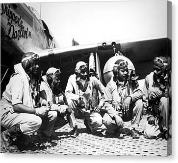 Pursuit Canvas Print - Tuskegee Airmen by Retro Images Archive