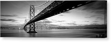 Twilight, Bay Bridge, San Francisco Canvas Print