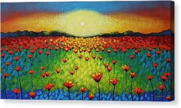 Twilight Poppies Canvas Print by John  Nolan