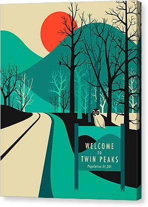 Twin Peaks Travel Poster Canvas Print