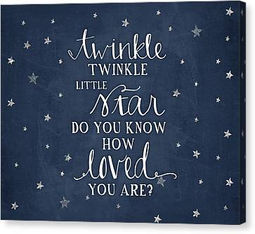 Twinkle Little Star Canvas Print by Amy Cummings