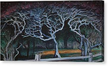 Twisted Night Canvas Print by Ron Richard Baviello