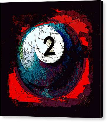 Two Ball Billiards Abstract Canvas Print