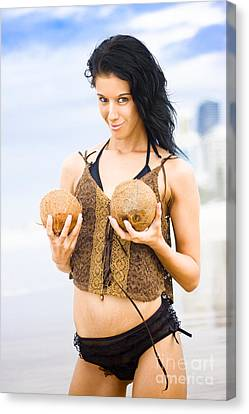 Two Coconuts Canvas Print