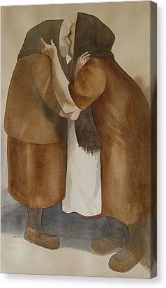 Two Old Friends Canvas Print by Sarah Buell  Dowling