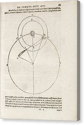 Tycho Brahe On The Comet Of 1577 Canvas Print