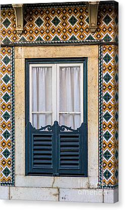 Typical Window Canvas Print by Carlos Caetano