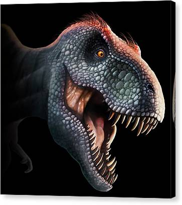 Tyrannosaurus Rex Head Canvas Print