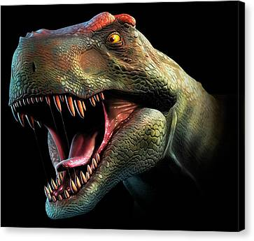 Tyrannosaurus Rex Head Study Canvas Print